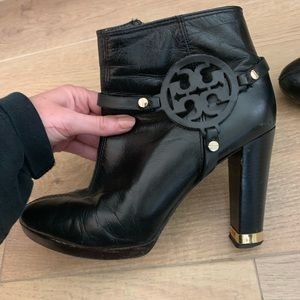 Authentic Tory Burch leather boots